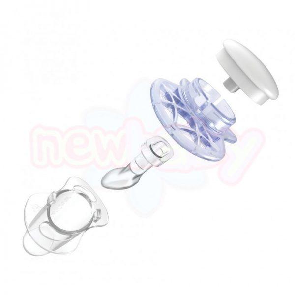 Анатомични светещи биберони Nuvita AIR55 ORT 6+