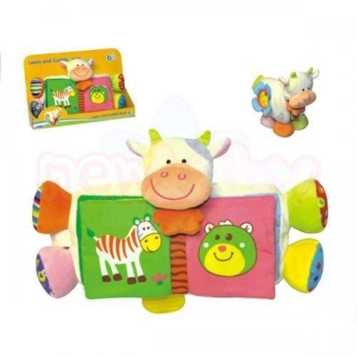 Бебешка плюшена книжка Moni Милата кравичка