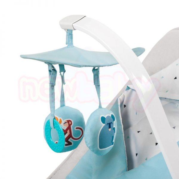 Бебешки шезлонг с вибрация и мелодии KinderKraft Felio