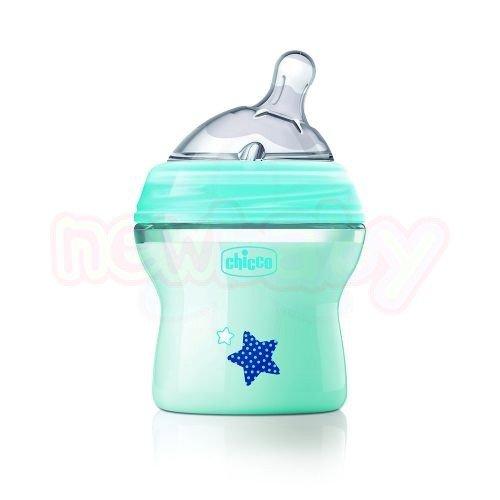 Бебешко шише със силиконов биберон Chicco Natural Feeling 150 мл