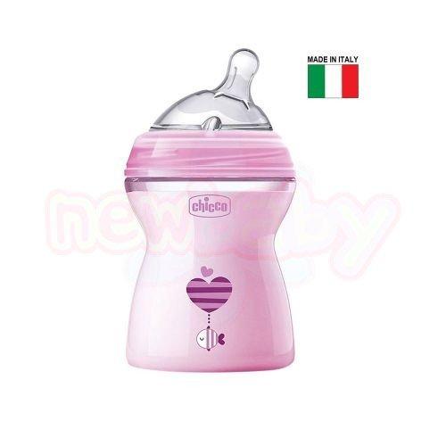 Бебешко шише със силиконов биберон Chicco Natural Feeling 250 мл