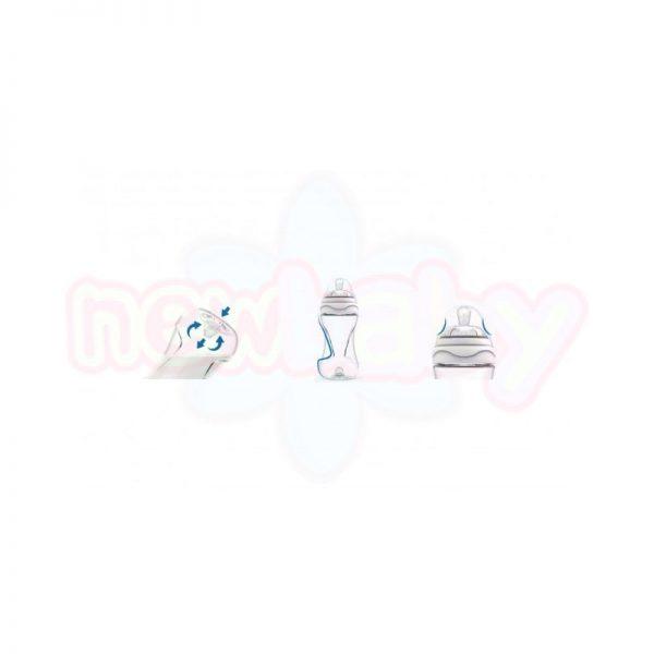 Бебешко шише за хранене Nuvita Mimic 330 мл