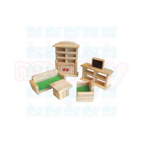 Дървена къща за кукли с аксесоари BelugaДървена къща за кукли с аксесоари Beluga