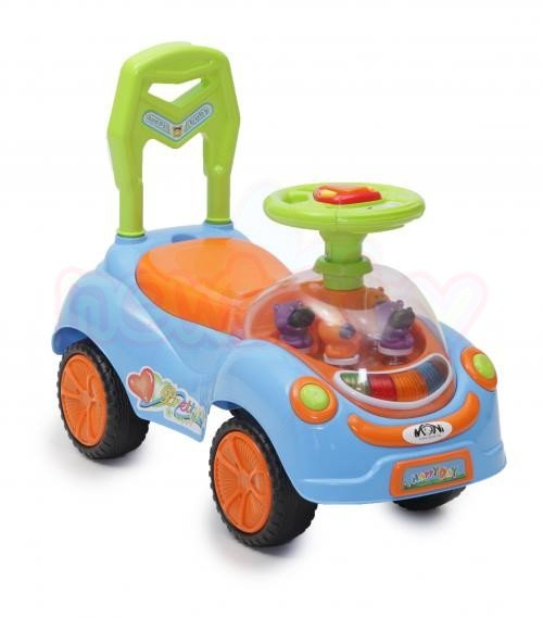 Детска кола за бутане и яздене Moni Happy Day