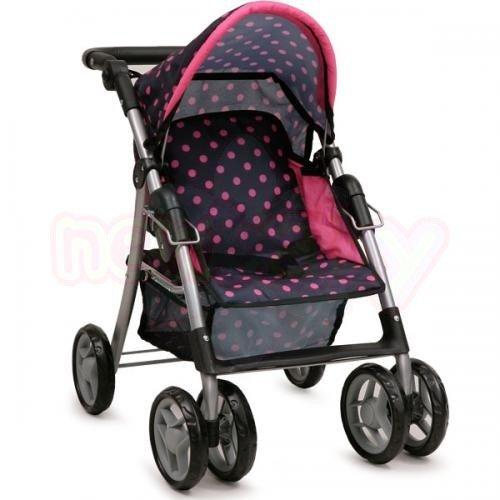 Детска количка за кукли Nano Pinky dots