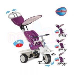 Детска триколка 4в1 Smart Trike Recliner цикламена