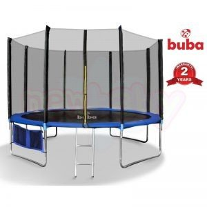Детски батут Buba 12FT с мрежа и стълба