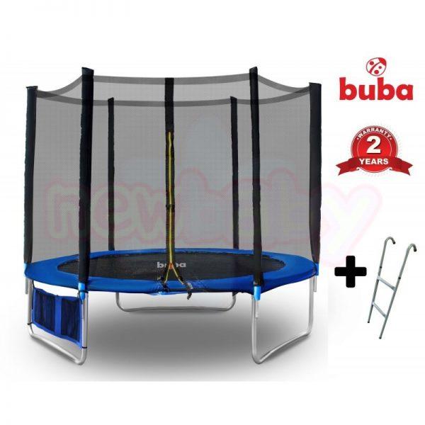 Детски батут Buba 6FT 183 см с мрежа и стълба