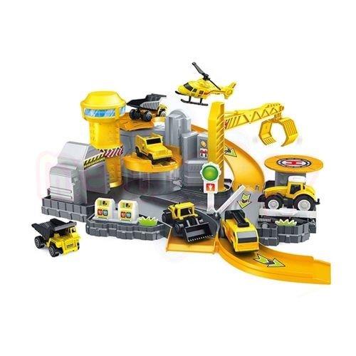 Гараж Строителни Машини Construction Series 4 превозни средства