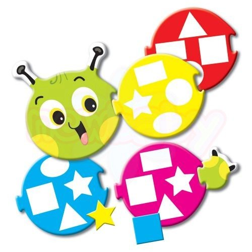 Игра Гъсеница за цветове и форми Thinkle Stars