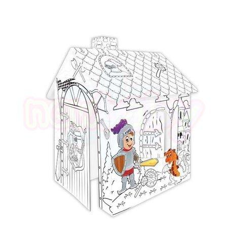 Картонена къща за оцветяване Mochtoys Рицар