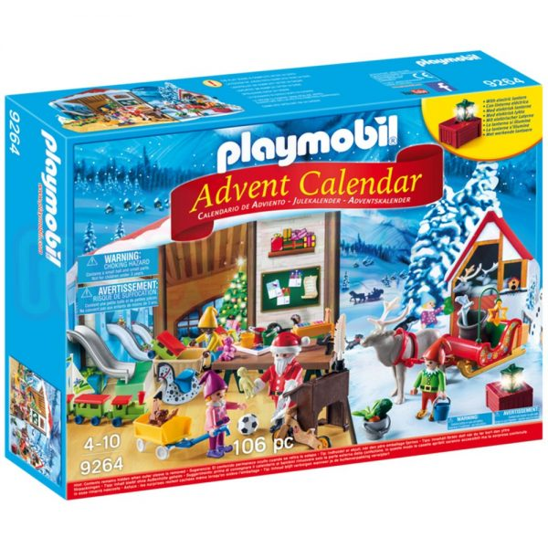 Коледен календар Работилницата на Дядо Коледа Playmobil