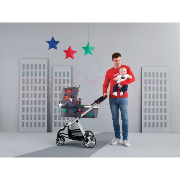 Комбинирана бебешка количка 3в1 Cosatto GIGGLE 2 GREY MEGASTAR