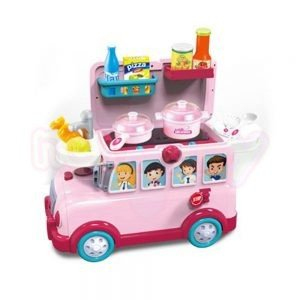 Кухня 3 в 1 NTOYS Funny Bus количка куфар и Ride On 31 части