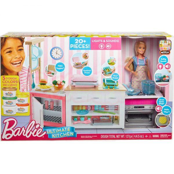 Кукла Barbie Игрален комплект кухня със светлини и звуци