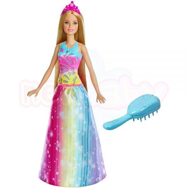 Кукла Barbie Принцеса с вълшебна четка за коса