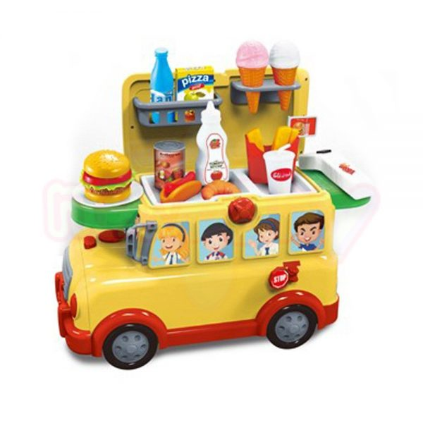 Павилион за бързо ханене 3 в 1 NTOYS Funny Bus количка куфар и Ride On 30 части