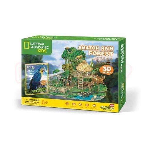 Пъзел 3D Амазонска Дъждовна Гора CubicFun National Geographic Kids 67 части
