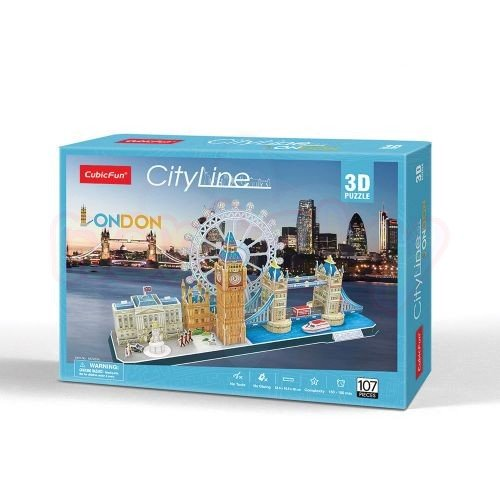 Пъзел 3D CubicFun City Line London 107 части