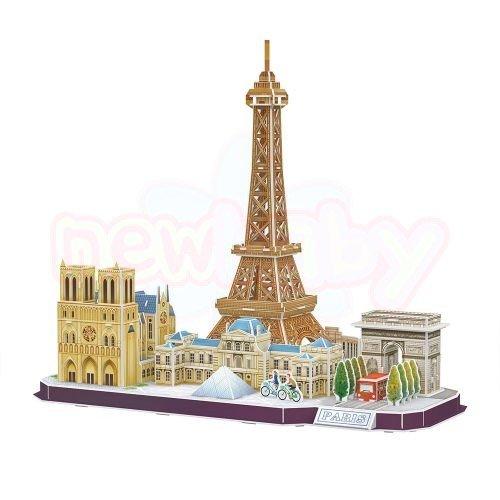 Пъзел 3D CubicFun City Line Paris 114 части