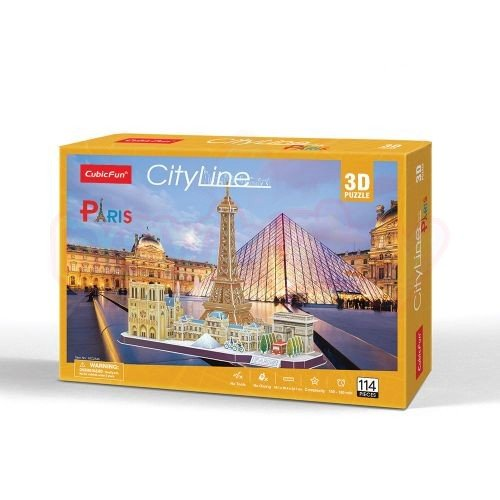 Пъзел 3D CubicFun City Line Paris 114 части