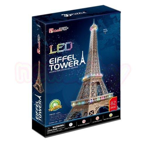Пъзел 3D CubicFun Eiffel Tower 82 части с LED светлини