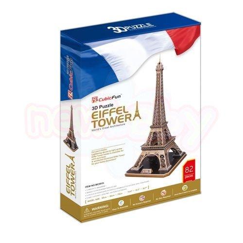 Пъзел 3D CubicFun Eiffel Tower 82 части