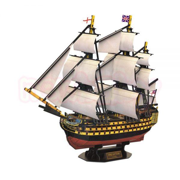 Пъзел 3D CubicFun Кораб HMS Victory 189 части