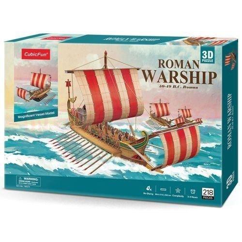 Пъзел 3D CubicFun Кораб Roman Warship 218 части