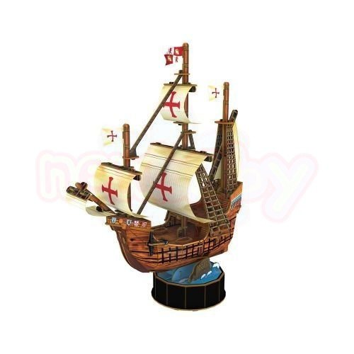 Пъзел 3D CubicFun Кораб Santa Maria 93 части