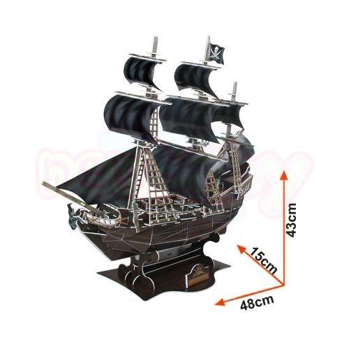 Пъзел 3D CubicFun Кораб The Queen Anne's Revenge 155 части