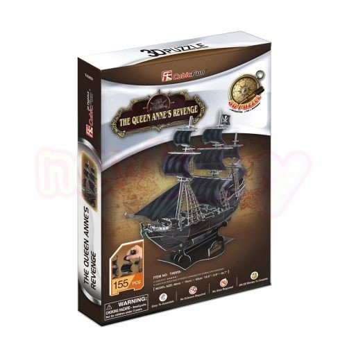 Пъзел 3D CubicFun Кораб The Queen Anne's Revenge 155 части