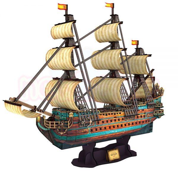 Пъзел 3D CubicFun Кораб The San Felipe 248 части-1