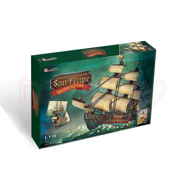 Пъзел 3D CubicFun Кораб The San Felipe 248 части