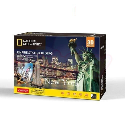 Пъзел 3D CubicFun National Geographic Empire State Building 66 части