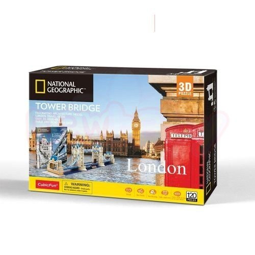 Пъзел 3D CubicFun National Geographic Tower Bridge 120 части