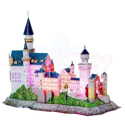 Пъзел 3D CubicFun Neuschwanstein Castle 128 части с LED светлини