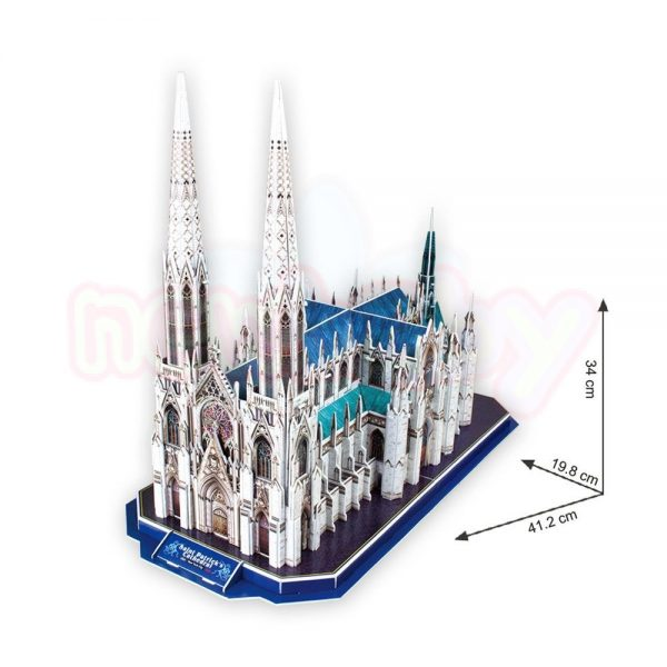 Пъзел 3D CubicFun St Patricks Cathedral 117