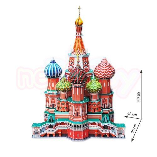 Пъзел 3D CubicFun St.Basil's Cathedral 214 части