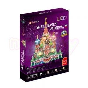 Пъзел 3D CubicFun St.Basil's Cathedral Russia 224 с LED светлини