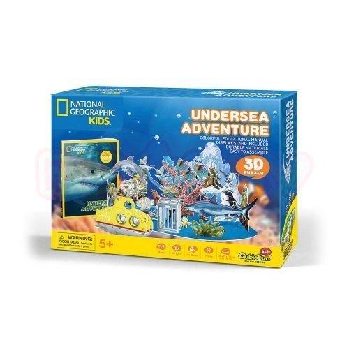Пъзел 3D Подводно Приключение CubicFun National Geographic Kids 63 части