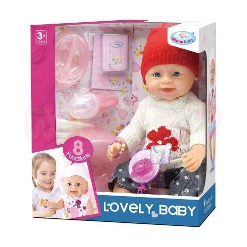 Пишкаща Кукла Зимни Дрехи WARM BABY Lovely Baby