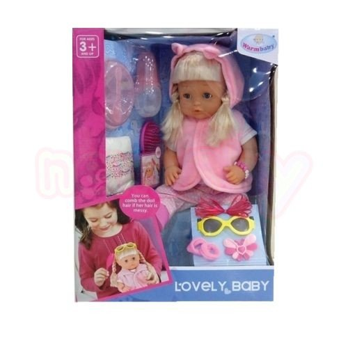 Пишкаща Кукла с Елече WARM BABY Lovely Baby
