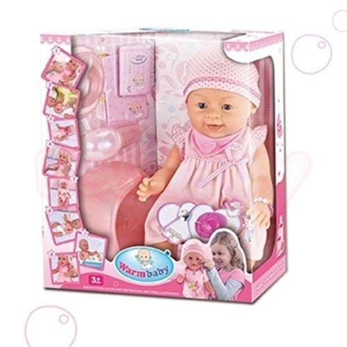 Пишкаща Кукла с Рокля WARM BABY