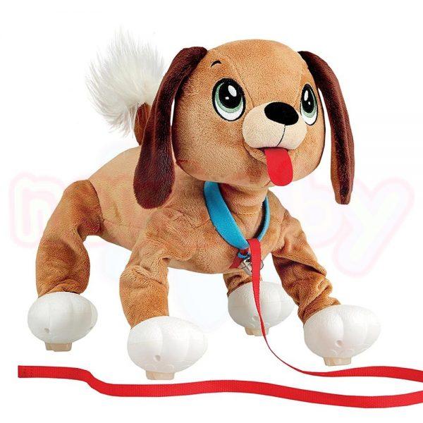Плюшен любимец за разходка навън Peppy Pets Кафяво кученце