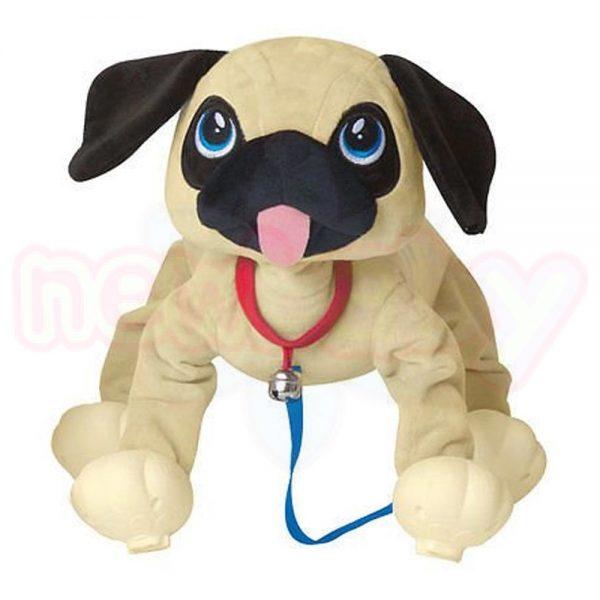 Плюшен любимец за разходка навън Peppy Pets Кученце Мопс