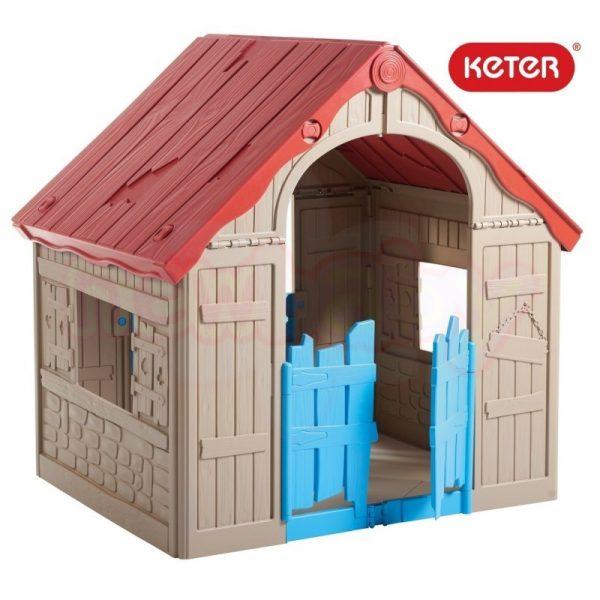 Сгъваема пластмасова къща за игра Keter Wonderfold