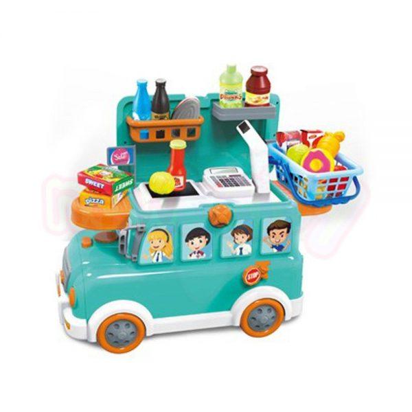 Супермаркет 3 в 1 NTOYS Funny Bus количка куфар и Ride On 27 части