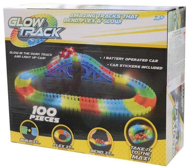 Светеща писта Glow Track 100 части с 1 количка