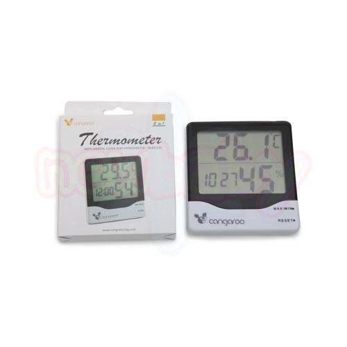 Термометър с дигитален часовник Cangaroo TL8020